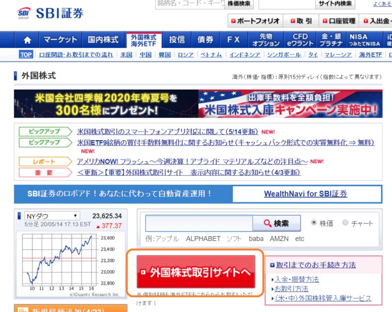 外国株式取引サイト