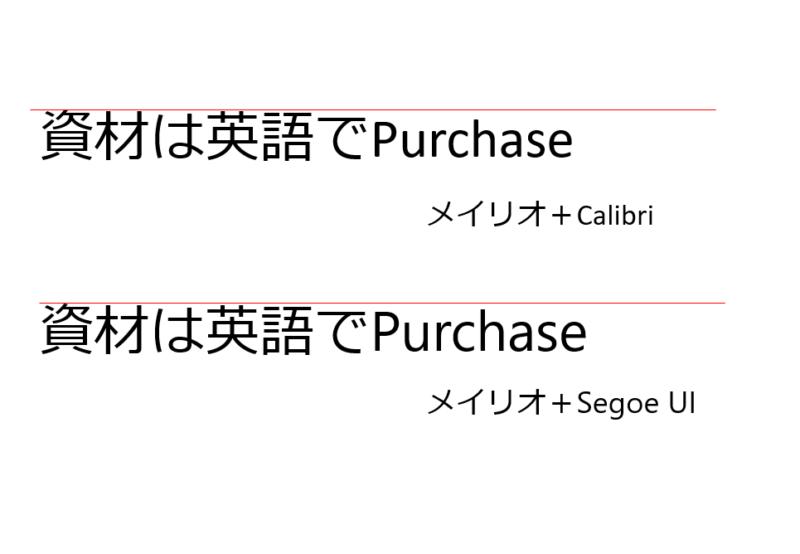 calibriとSegoe UI比較