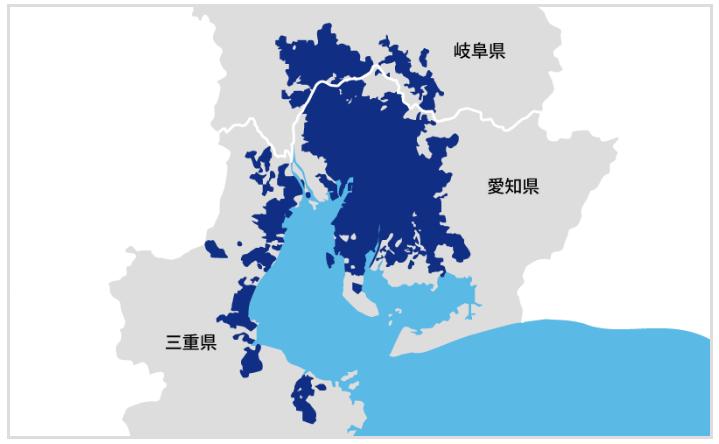 【出典】楽天ガス中部圏提供エリア(2021年2月)